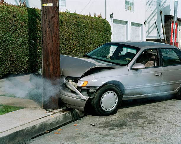 Accident damaged cars